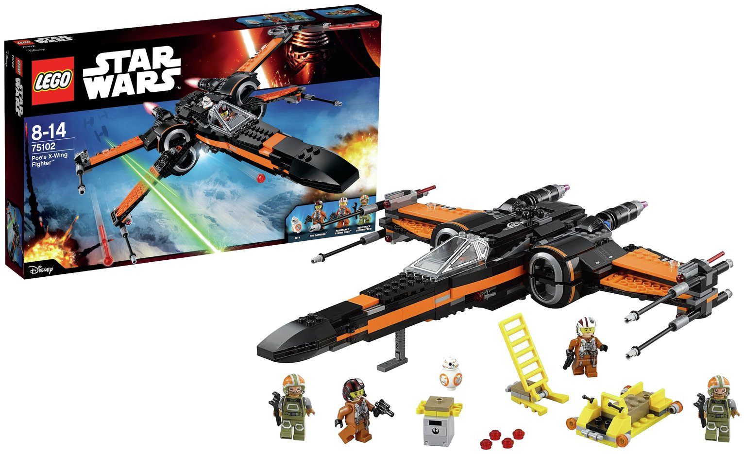Image of LEGO - Star Wars - The Force Awakens Poe's X-Wing Fighter 75102