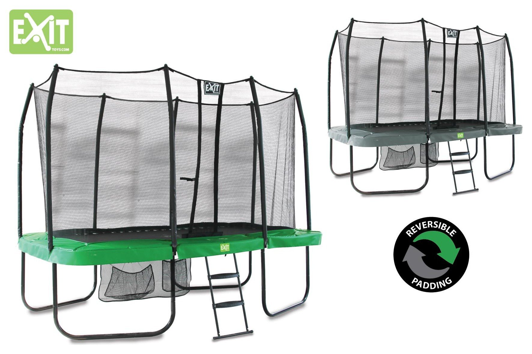 EXIT EXIT - Rectangular Jumparena 7ft x 12ft - Green Grey
