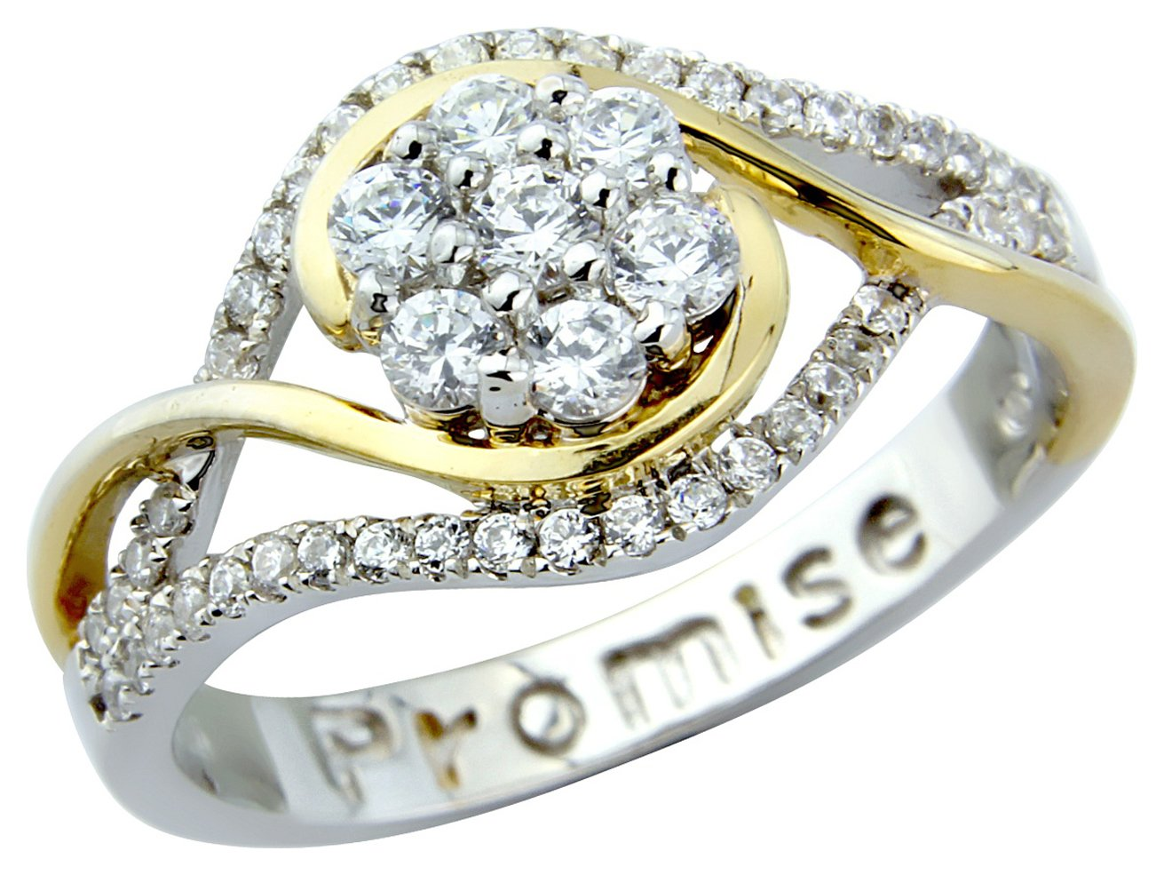 Buy Sterling Silver Stone Set Promise Dress Ring T at Argos