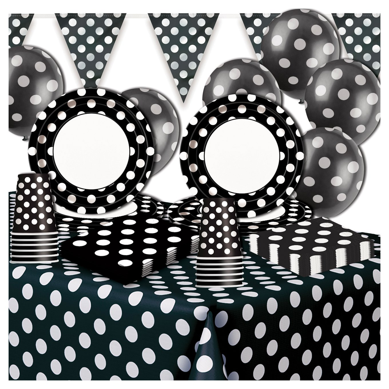 Decorative Dots Party Pack - Black