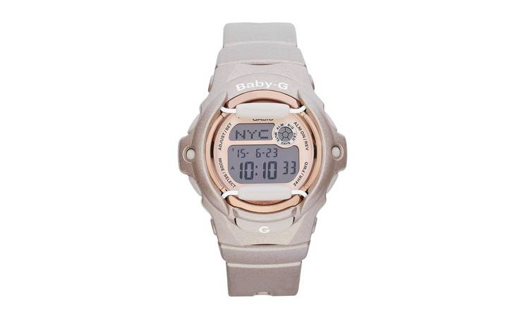Casio Baby-G Mocha Coloured Resin Strap Watch