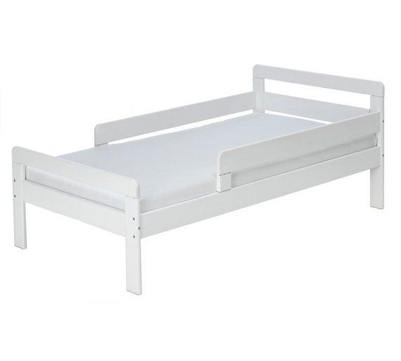buy home ellis toddler bed frame white at. Black Bedroom Furniture Sets. Home Design Ideas