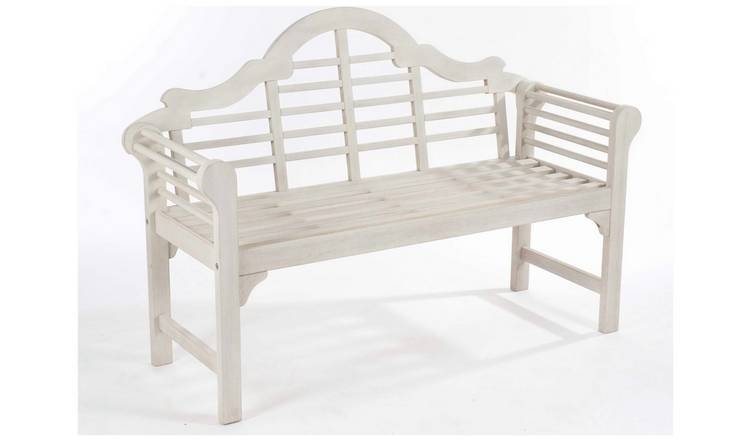 Groovy Buy Lutyens Style Hardwood Garden Bench White Garden Benches And Arbours Argos Ncnpc Chair Design For Home Ncnpcorg