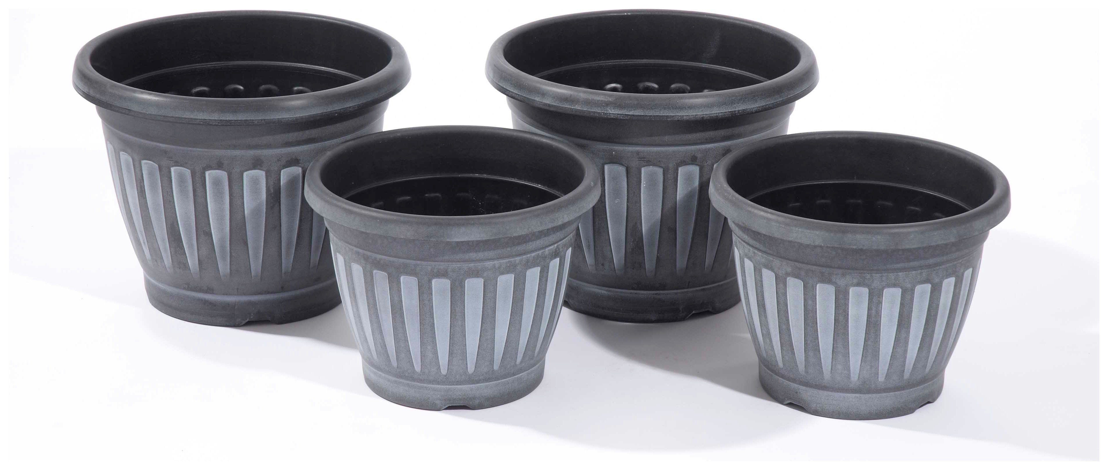 Greenhurst Georgian Planters Pack of 4 - Black and White. lowest price