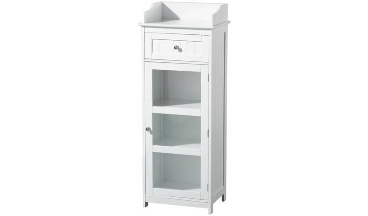 Buy Premier Housewares Portland White Freestanding Cabinet ...