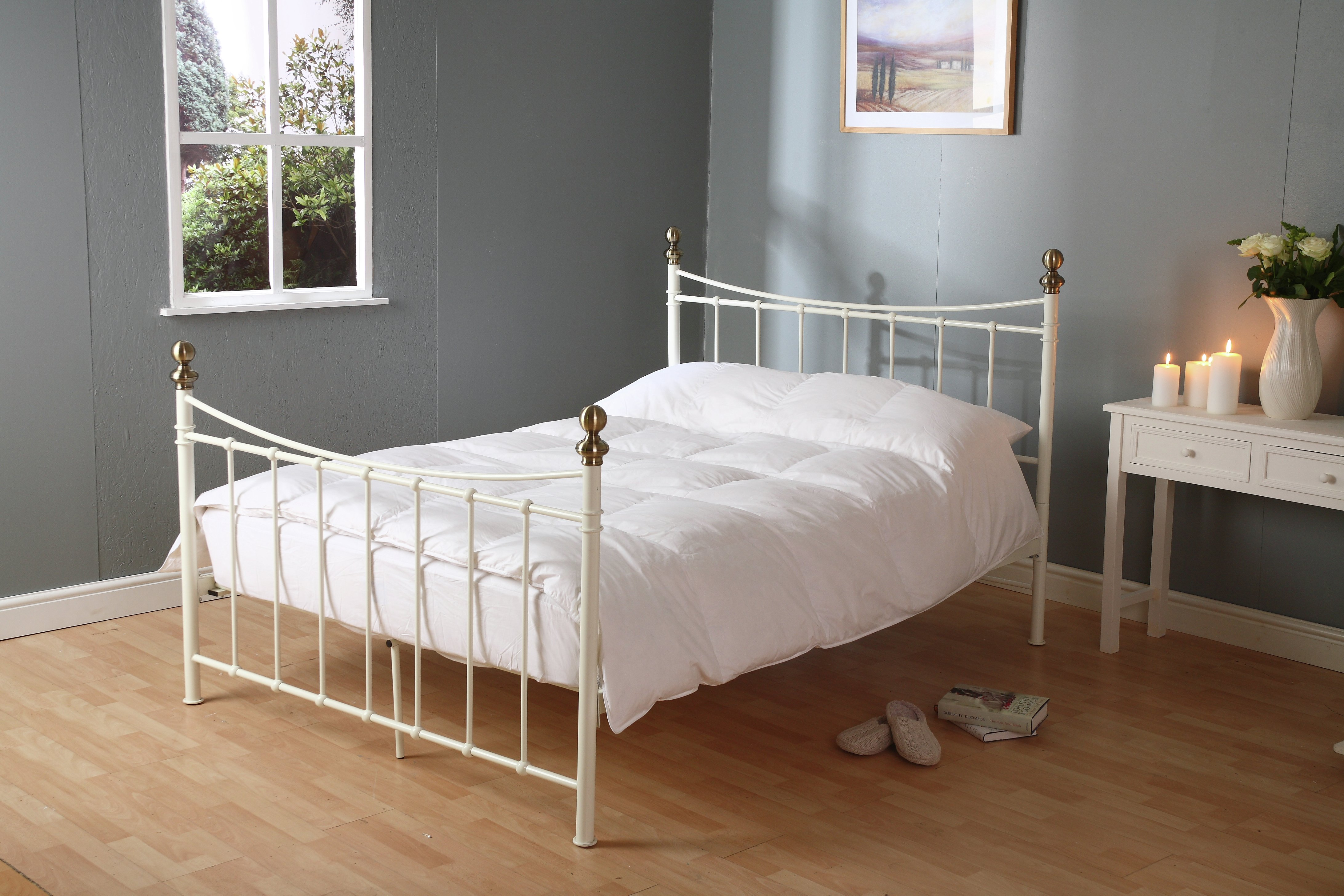 downland  duck and feather his and hers  duvet  double