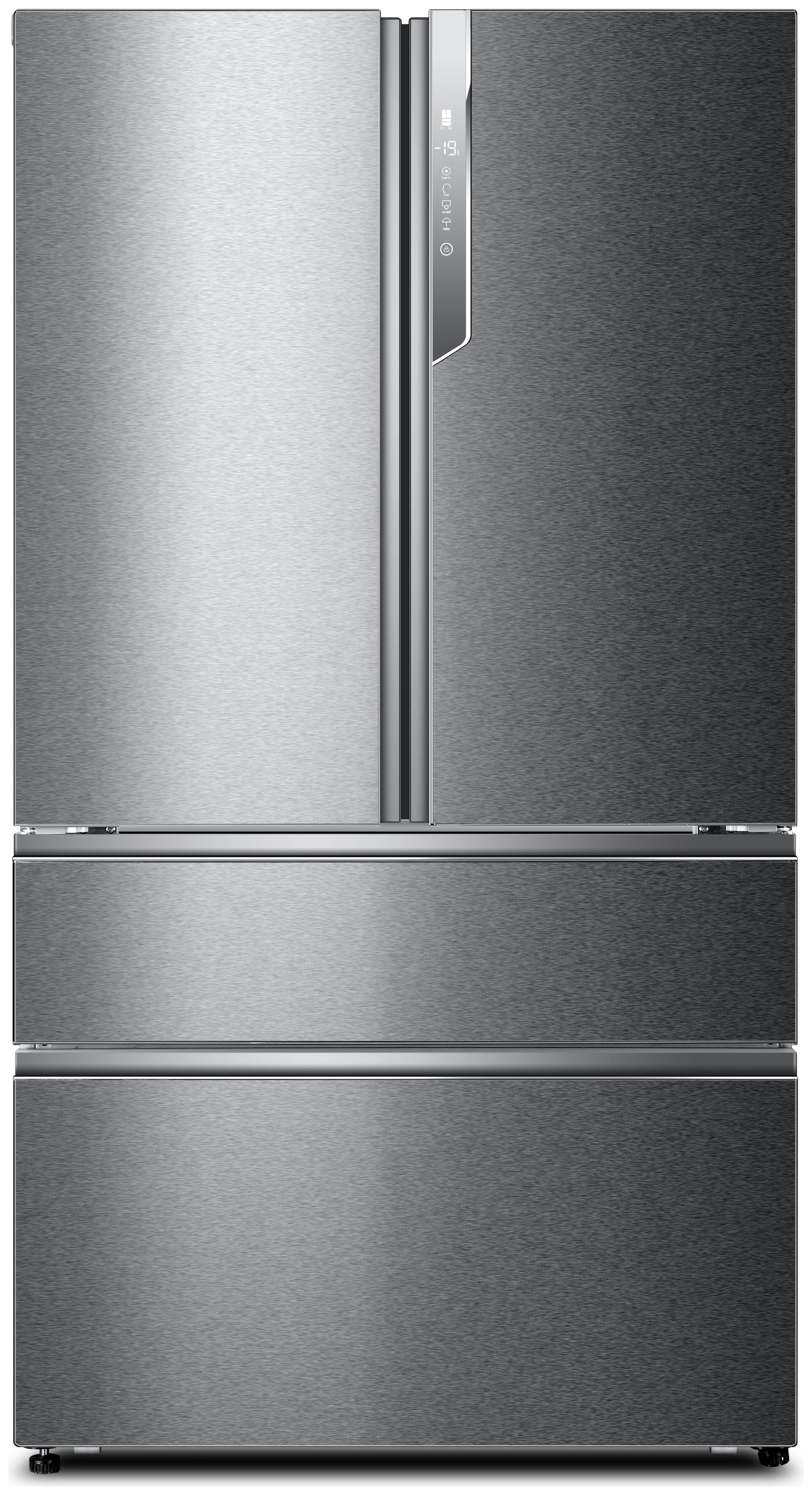 Image of Haier HB25FSSAAA American Fridge Freezer - Stainless Steel.