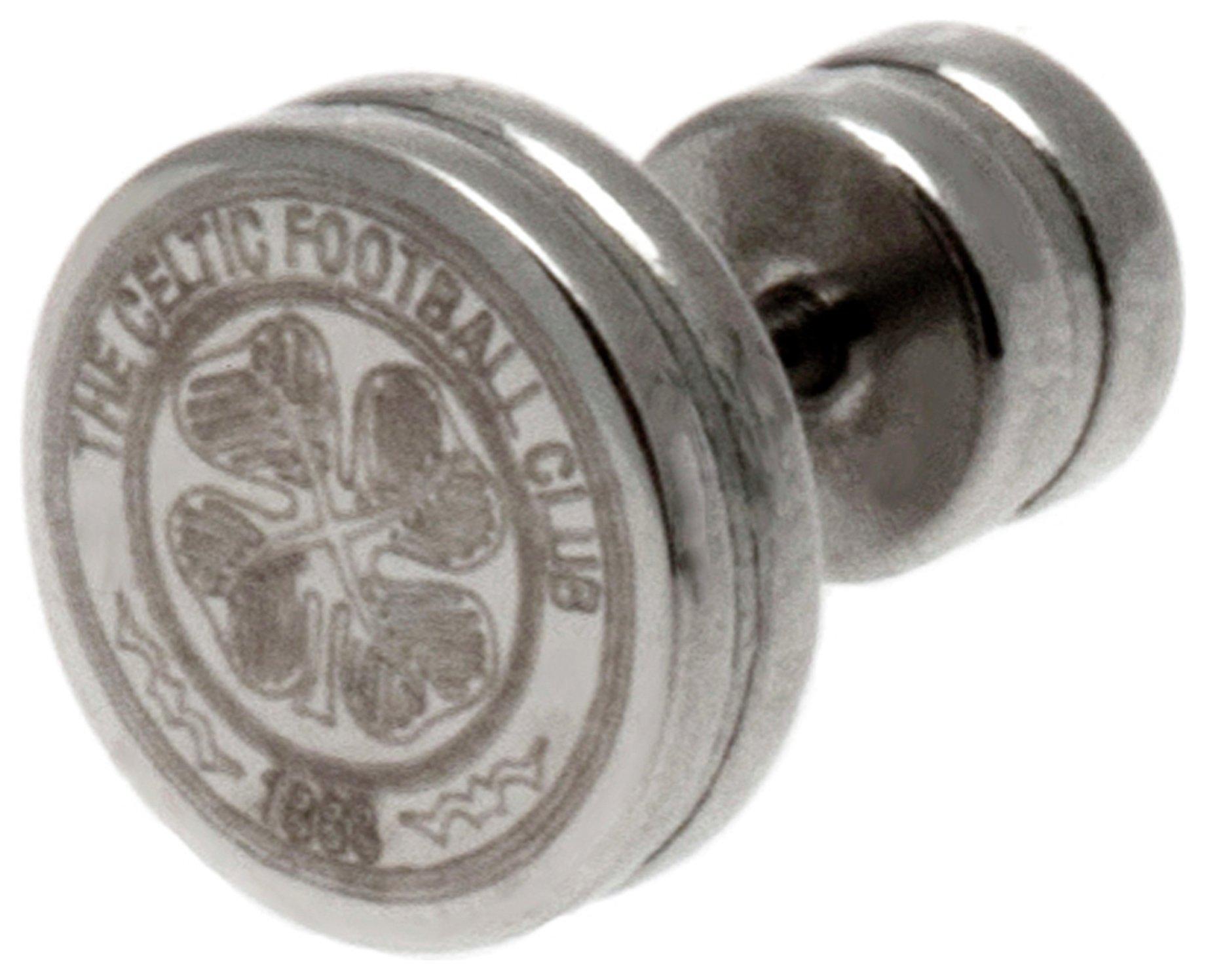 Stainless Steel Celtic Crest Stud Earring.