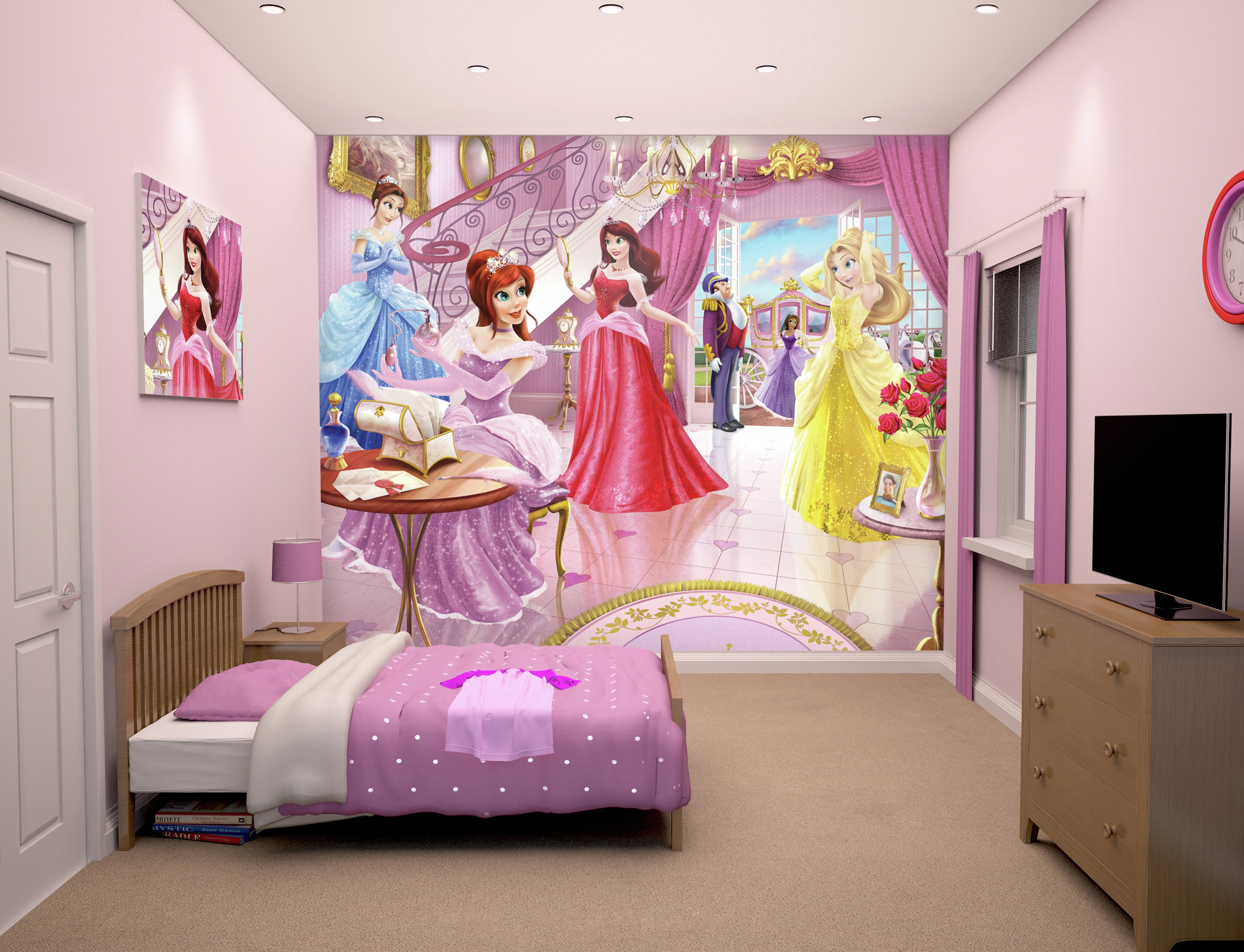Awesome Princess Wall Mural Buy Walltastic Fairy Princess Wall Mural Kit At  Argos.co.uk Part 28
