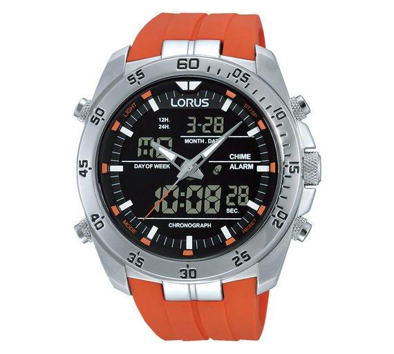 buy lorus men s orange digital and analogue watch at argos co uk lorus men s orange digital and analogue watch428 2673