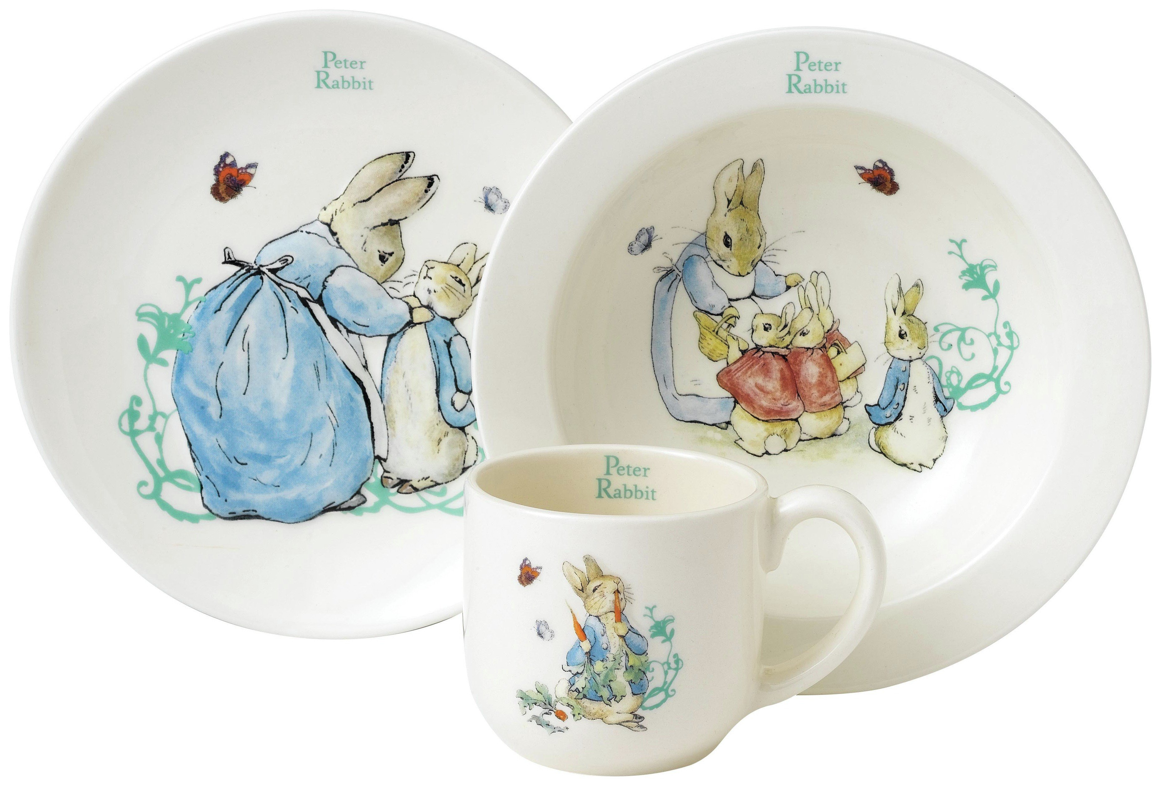 Image of Beatrix Potter Peter Rabbit Three Piece Nursery Set.