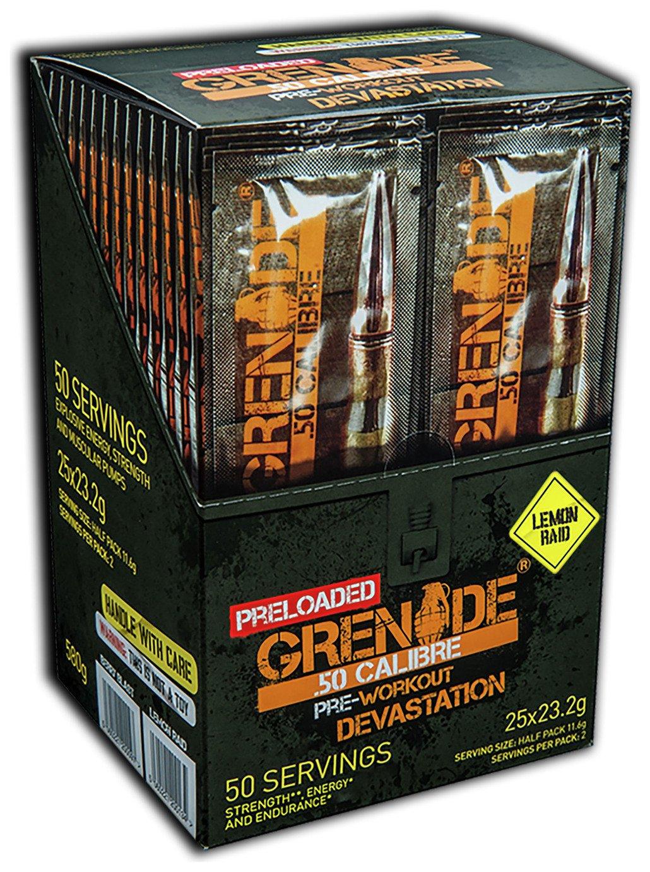 Image of Grenade - 50 Calibre Preloaded 25 Sachets - Lemon