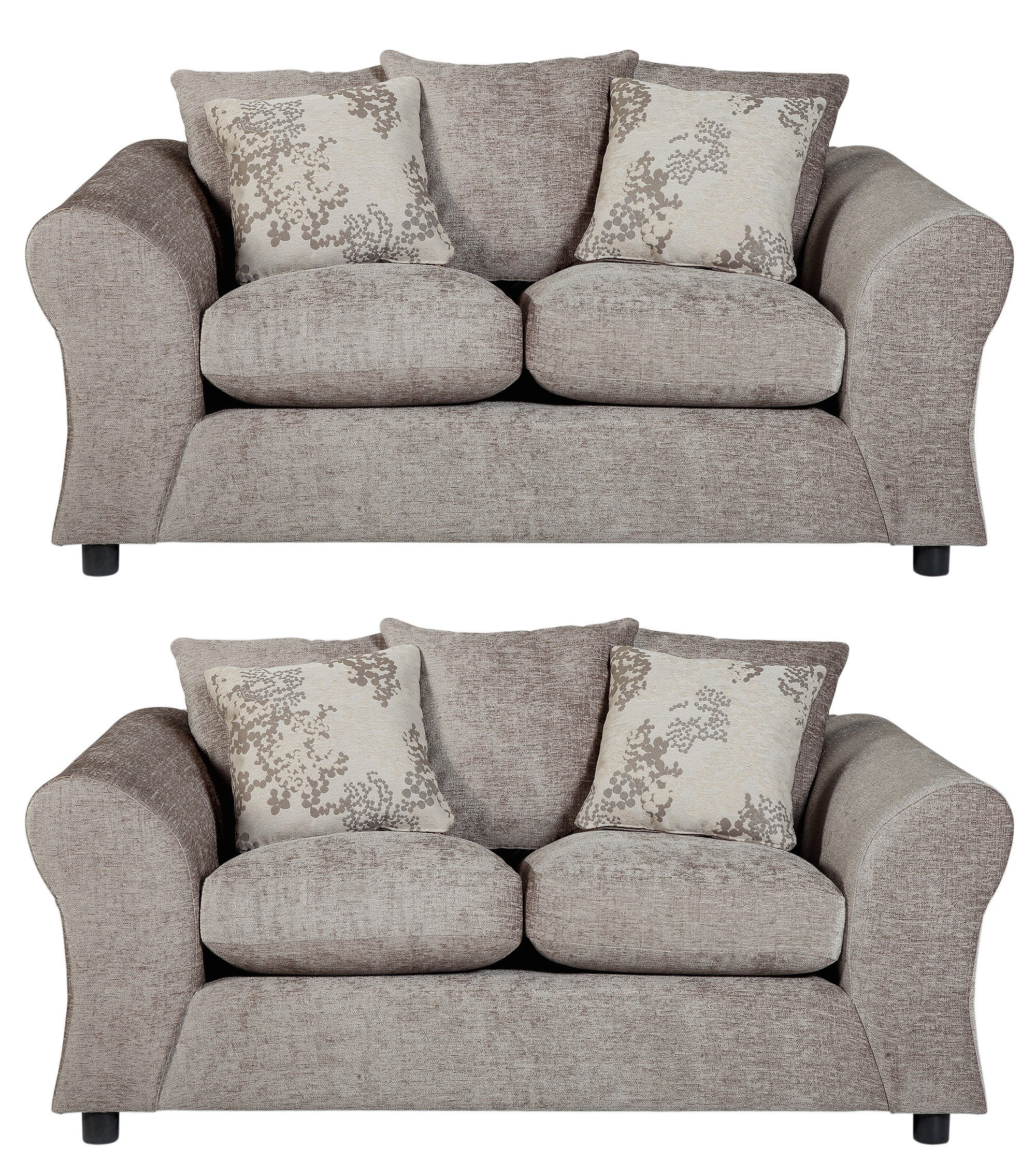 Argos Home - Clara Regular and Regular Fabric - Sofa - Mink