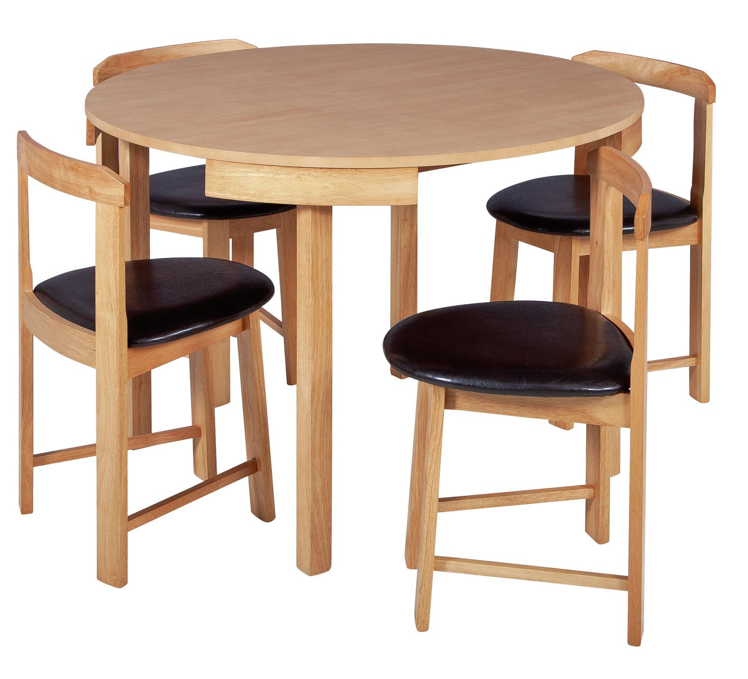 Argos Dining Table And Chairs Sale: SALE On Hygena Alena Circular Solid Wood Table & 4 Chairs