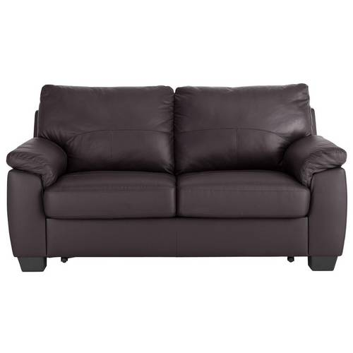 Buy Argos Home Logan 2 Seater Leather Mix Sofa Bed - Chocolate ...