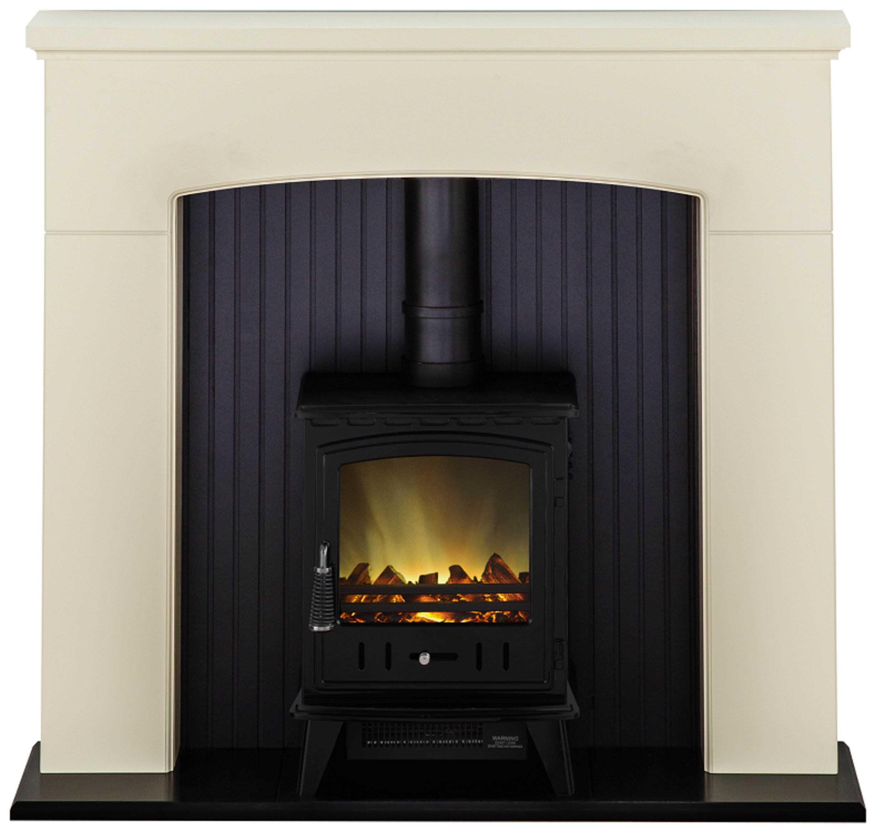 Image of Adam - Derwent 2kW - Electric Stove Suite - Cream & Black