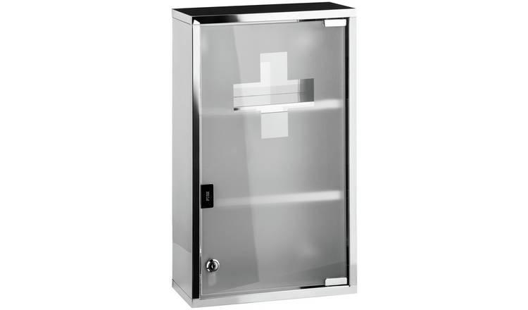 the latest 45f35 7eebb Buy Premier Housewares Stainless Steel Medicine Cabinet   Bathroom cabinets    Argos