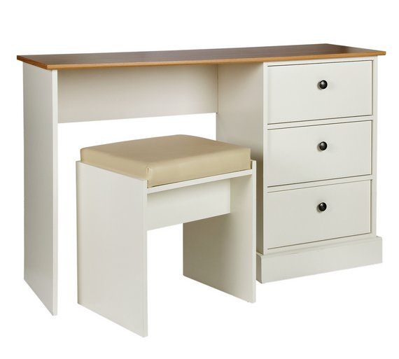 Buy Collection Kensington Drw Dressing Table Oak Eff Ivory - White dressing table argos