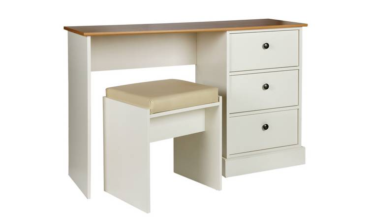 Argos Home Kensington 3 Drw Dressing Table - Oak Eff & Ivory