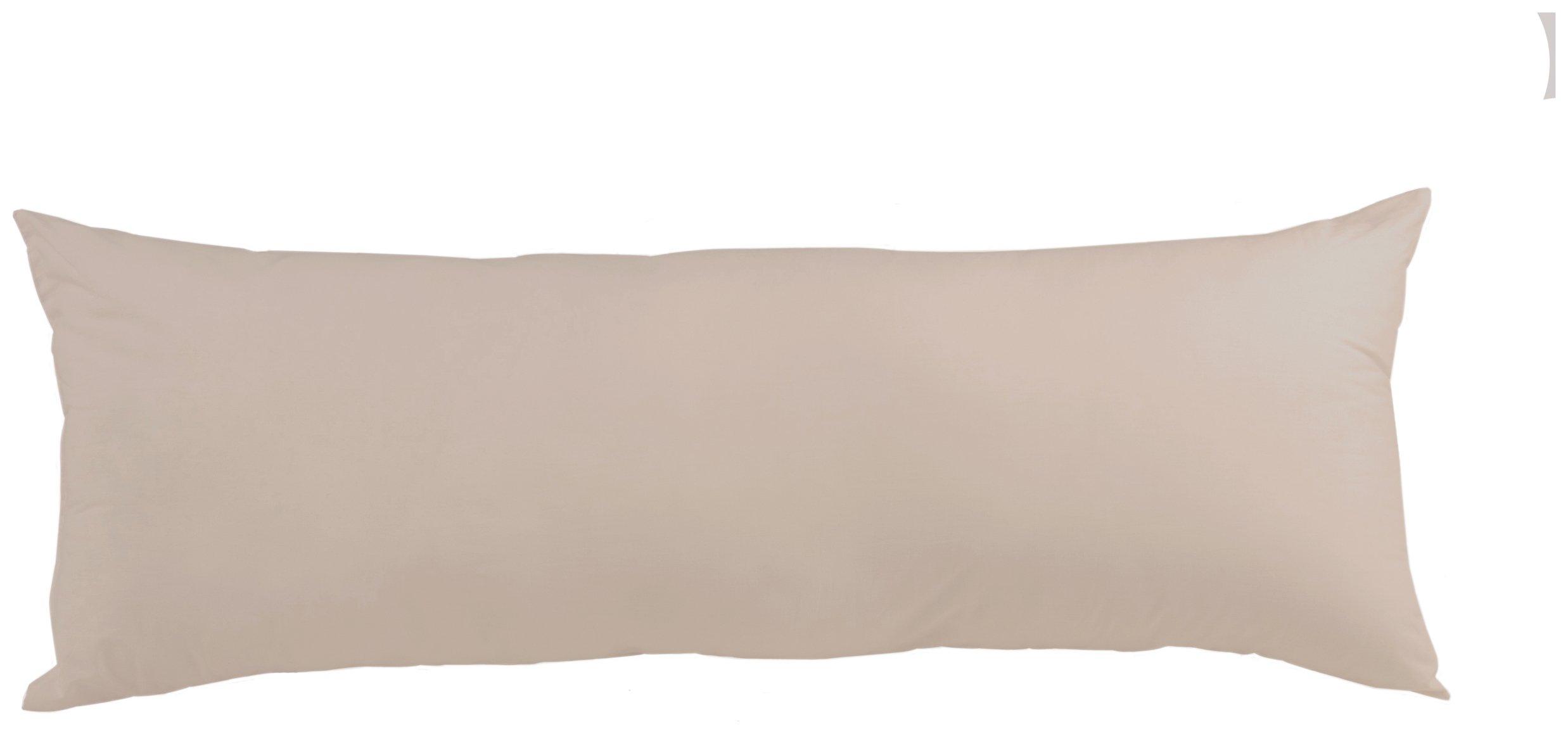 downland  5 ft white bolster pillowcases  set of 2
