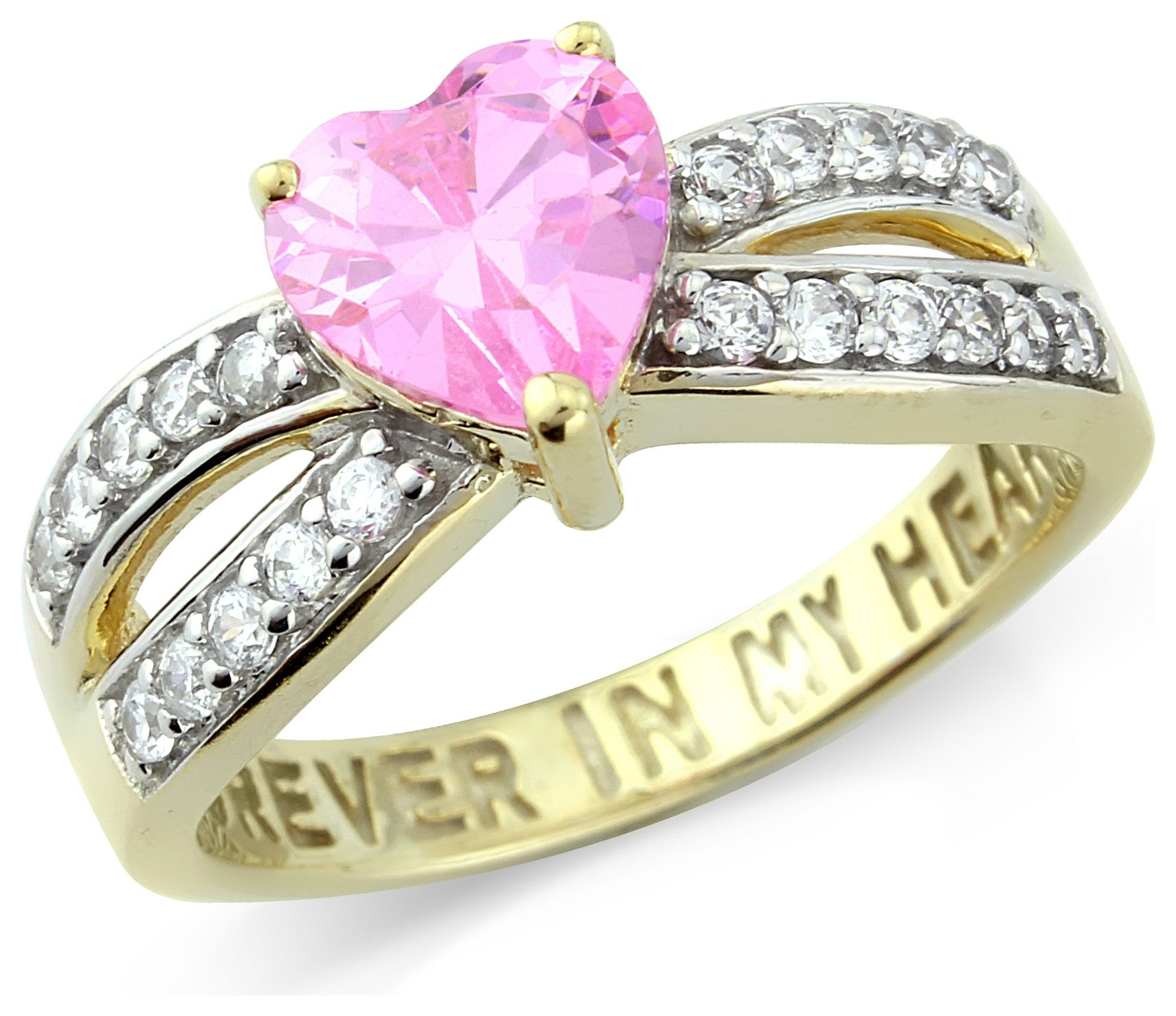 Buy Sterling Silver Forever in My Heart CZ Ring Size P at