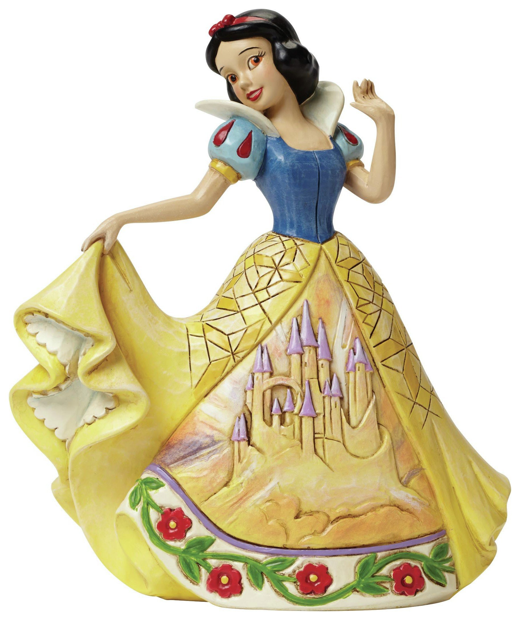 Image of Disney Traditions Castle in the Clouds Snow White Figurine.