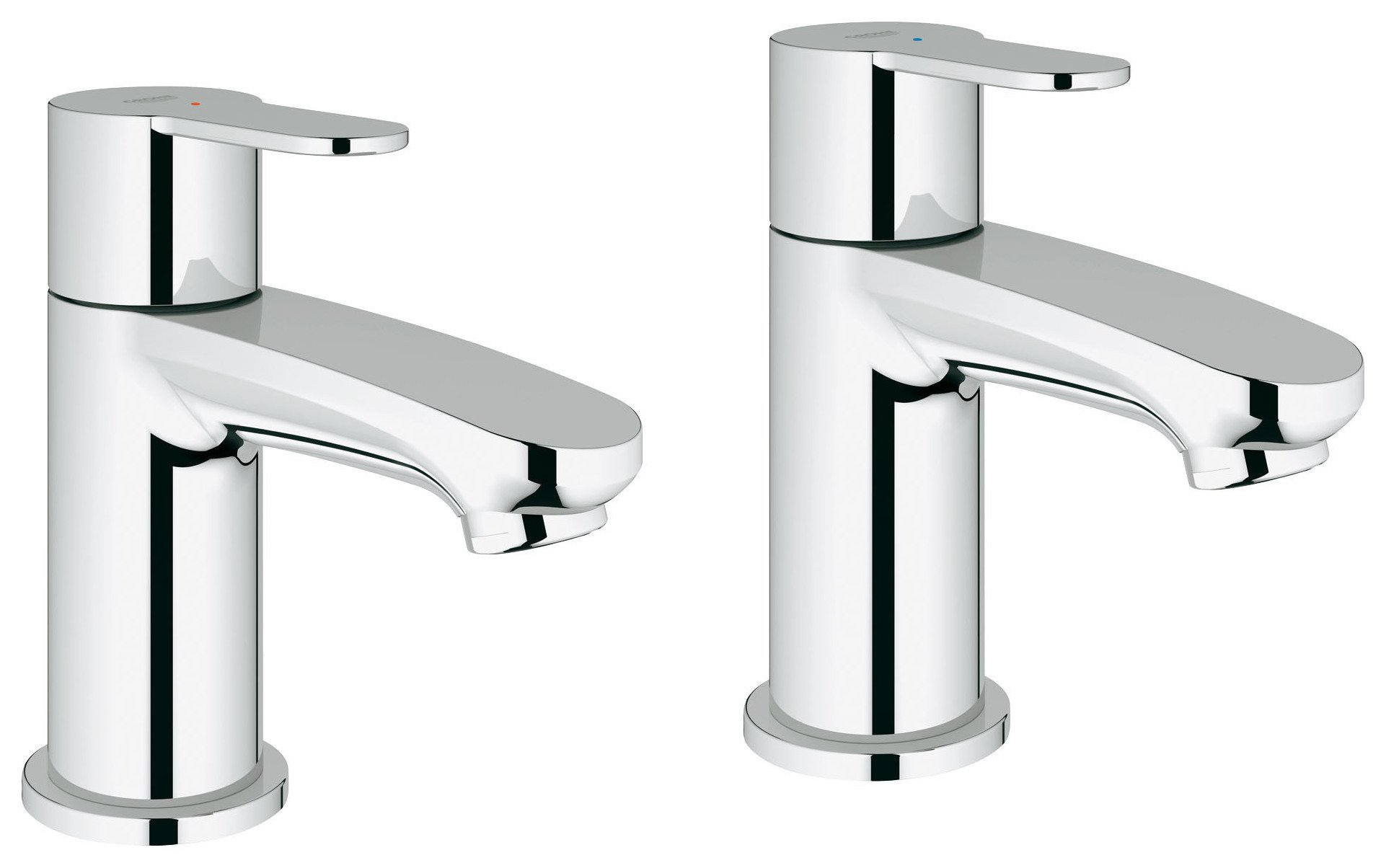 Grohe Wave Cosmopolitan Basin Pillar Taps (4288983) | Argos Price ...
