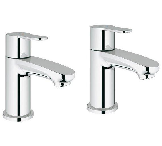 Buy Grohe Wave Cosmopolitan Basin Pillar Taps | Bathroom taps and ...