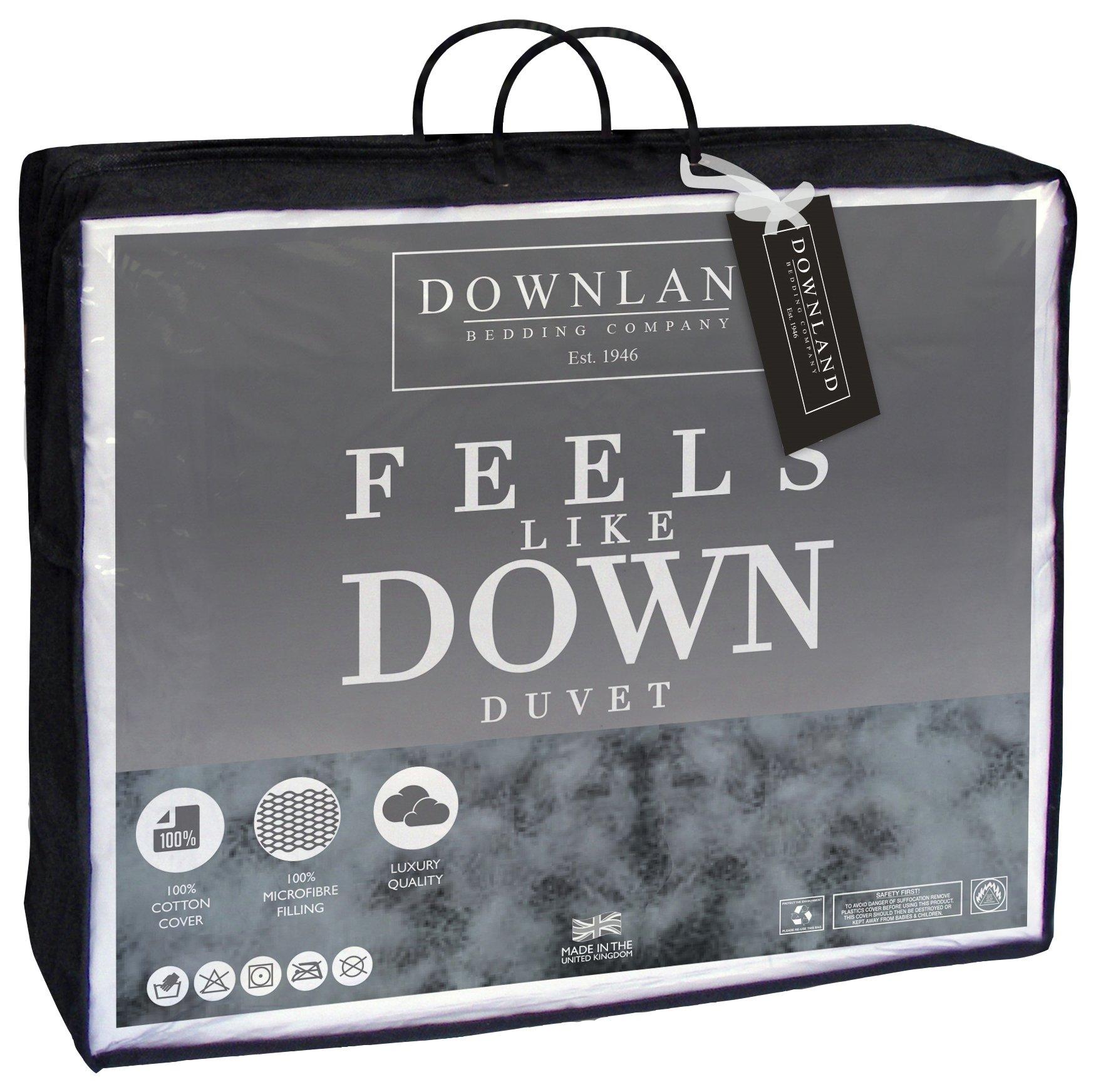 downland  105 tog feels like down  duvet  single