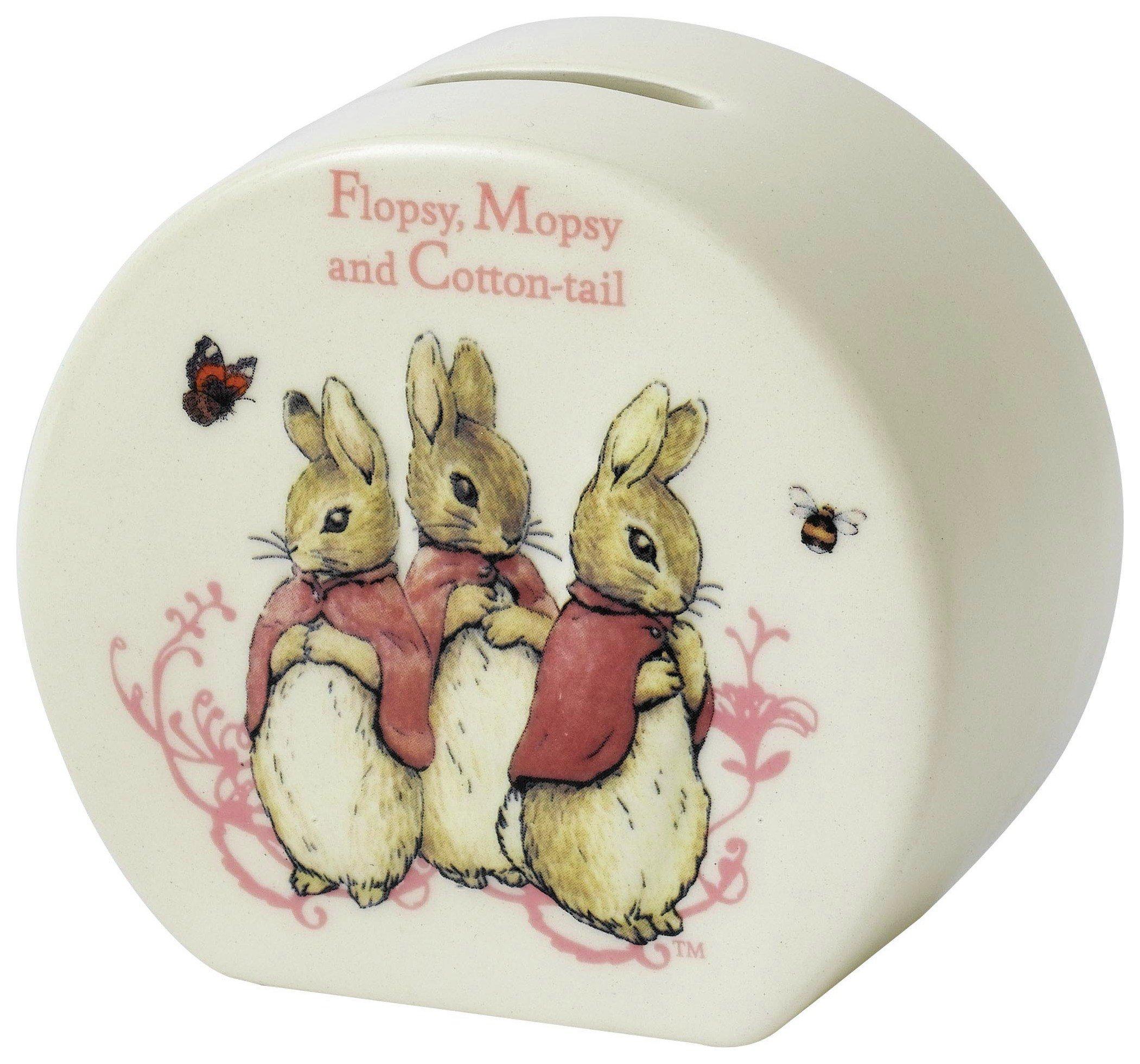 Image of Beatrix Potter Flopsy Mopsy Cotton Tail Money Bank.