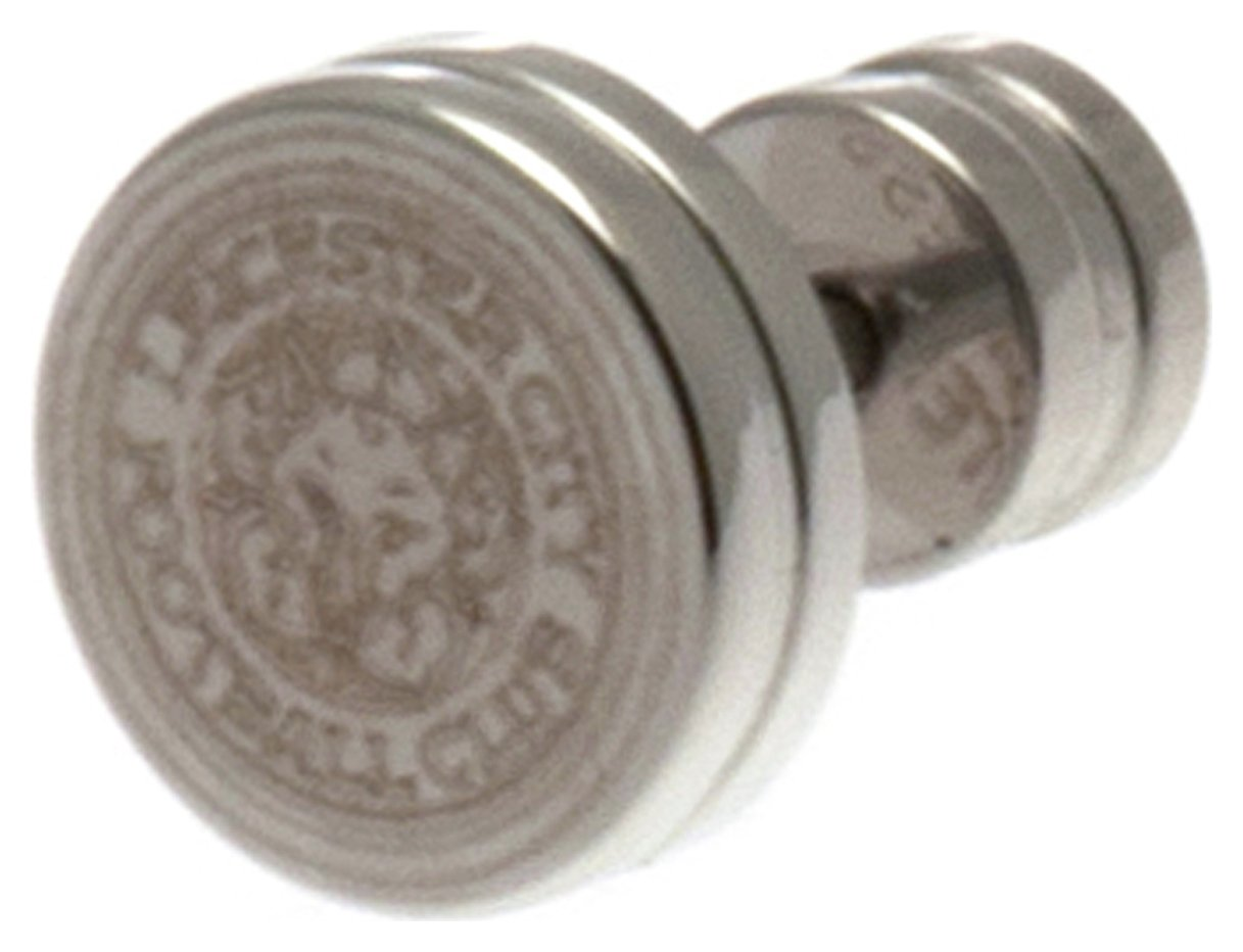Stainless Steel Leicester City Crest Stud Earring.