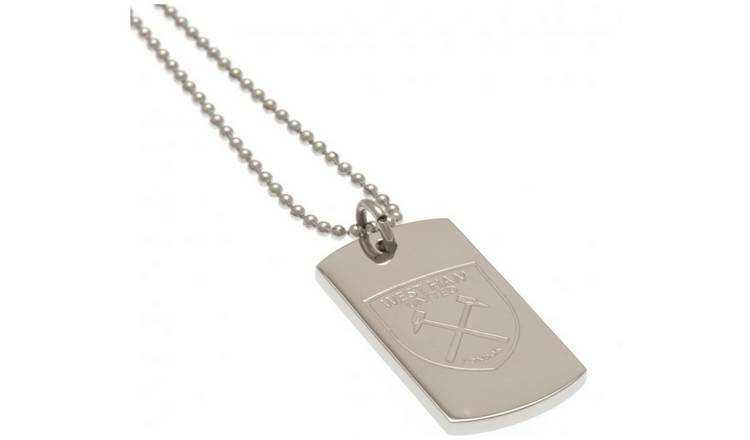 West Ham United FC Stainless Steel Dogtag and Chain