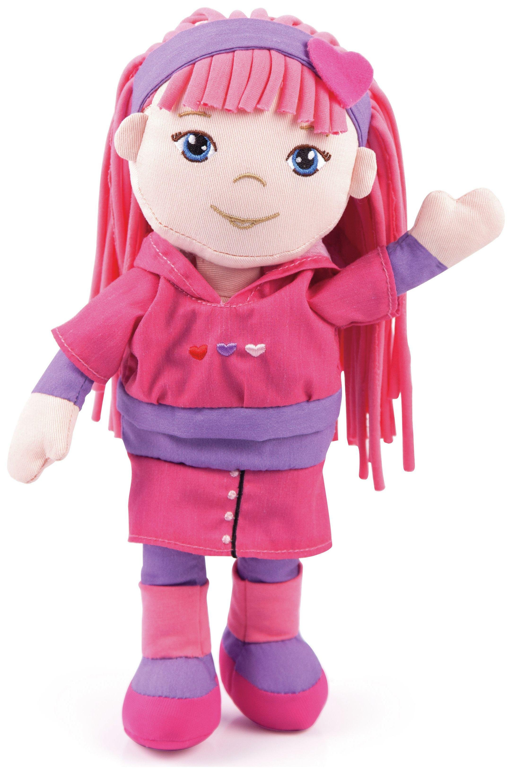Image of Bayer - 30cm Rag Doll - Pink and Purple