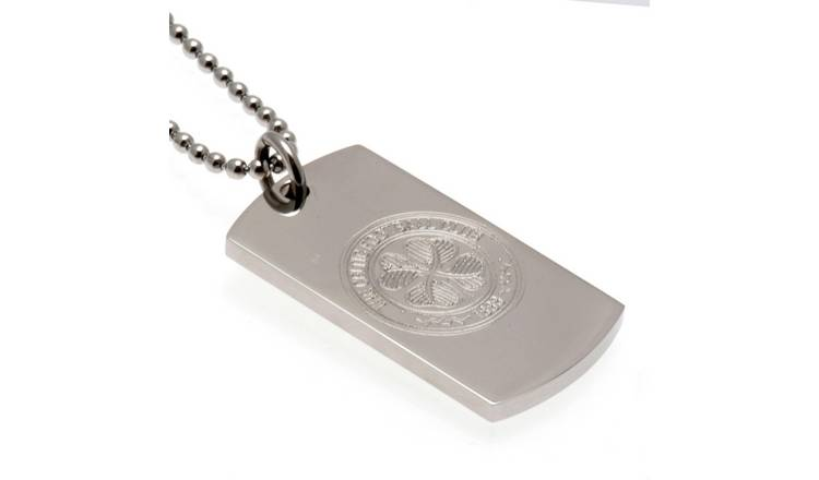 Stainless Steel Celtic Dogtag and Chain.