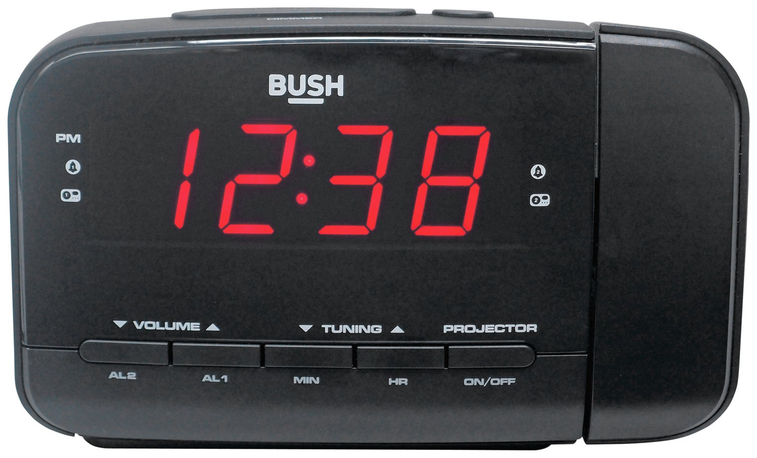 sale on bush projection alarm clock bush now available our best price on bush projection ala. Black Bedroom Furniture Sets. Home Design Ideas