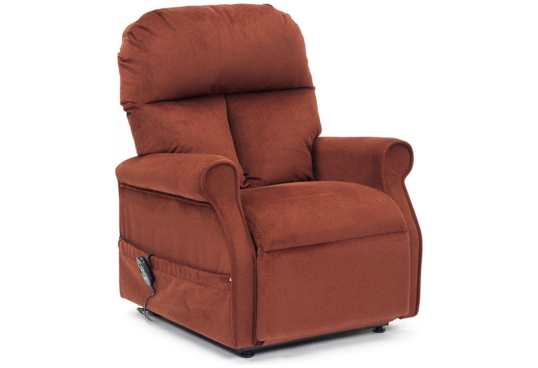 Image of Boston Riser Recliner Chair with Single Motor - Russet.