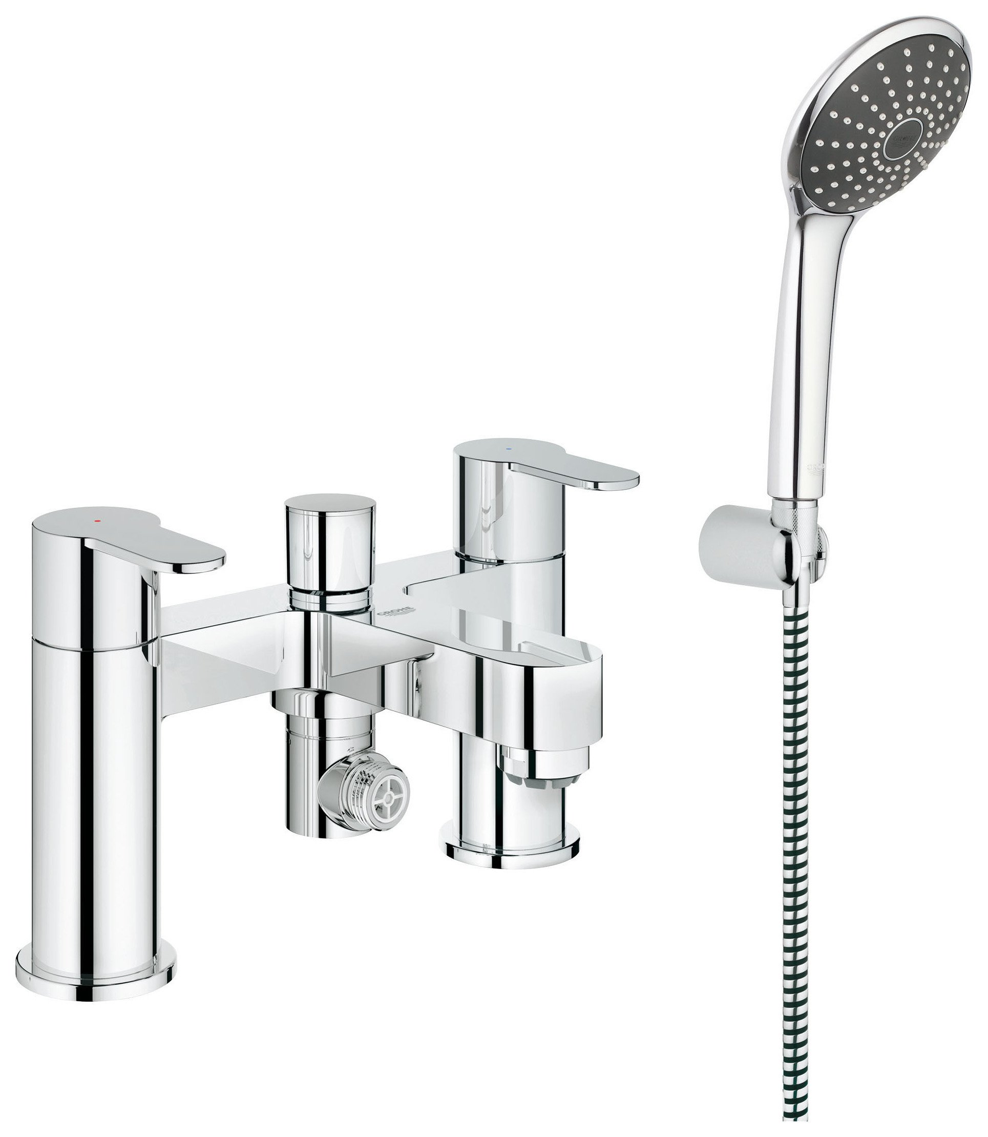 grohe wave cosmopolitan bath and shower mixer set gay. Black Bedroom Furniture Sets. Home Design Ideas
