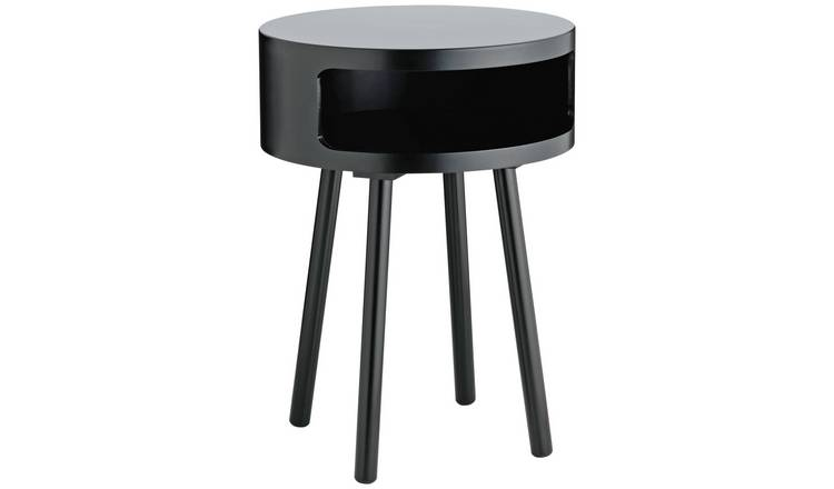Habitat Bumble Side Table - Black