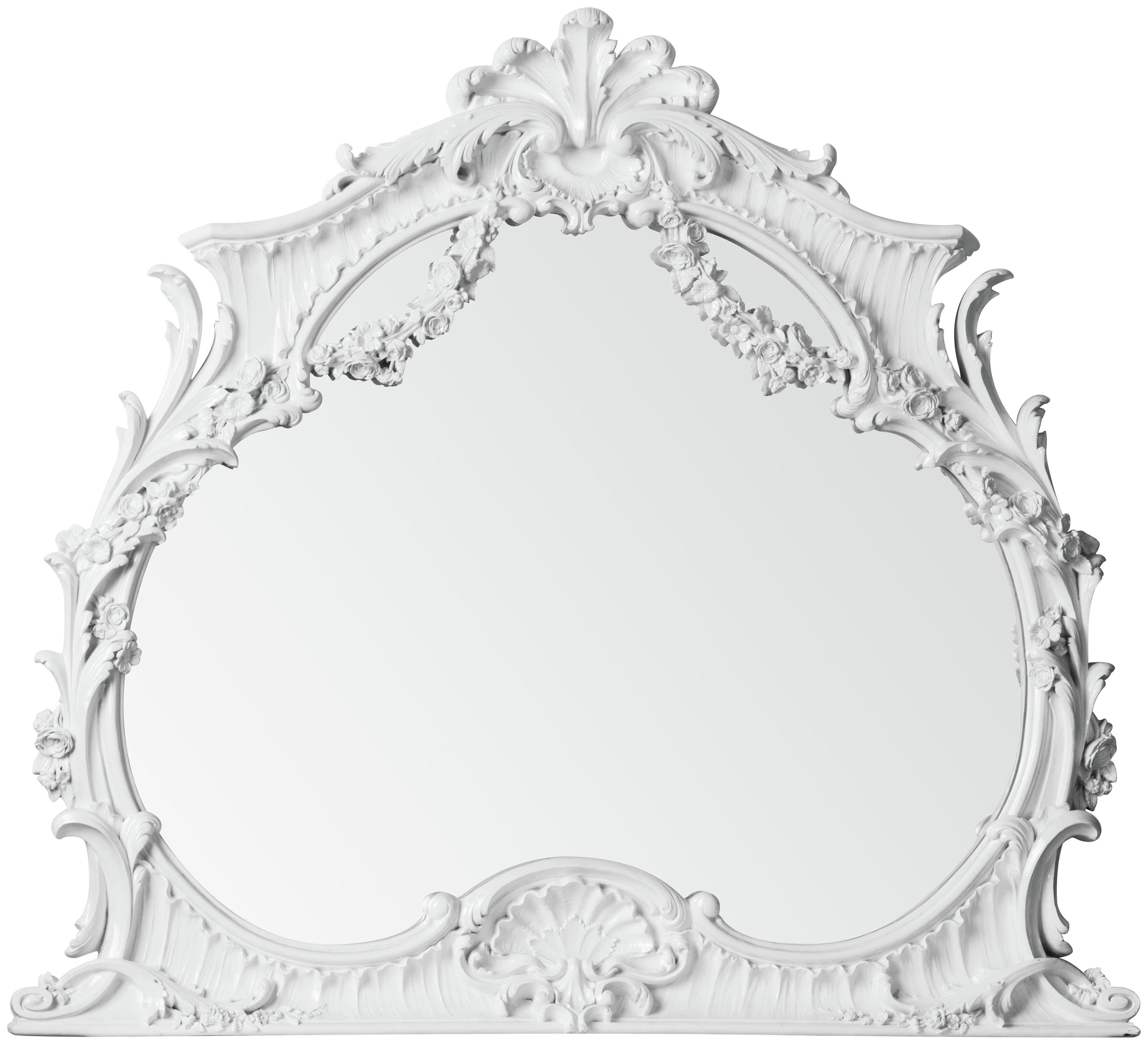 Buy Premier Housewares Ornate Wall Mirror White at Argoscouk