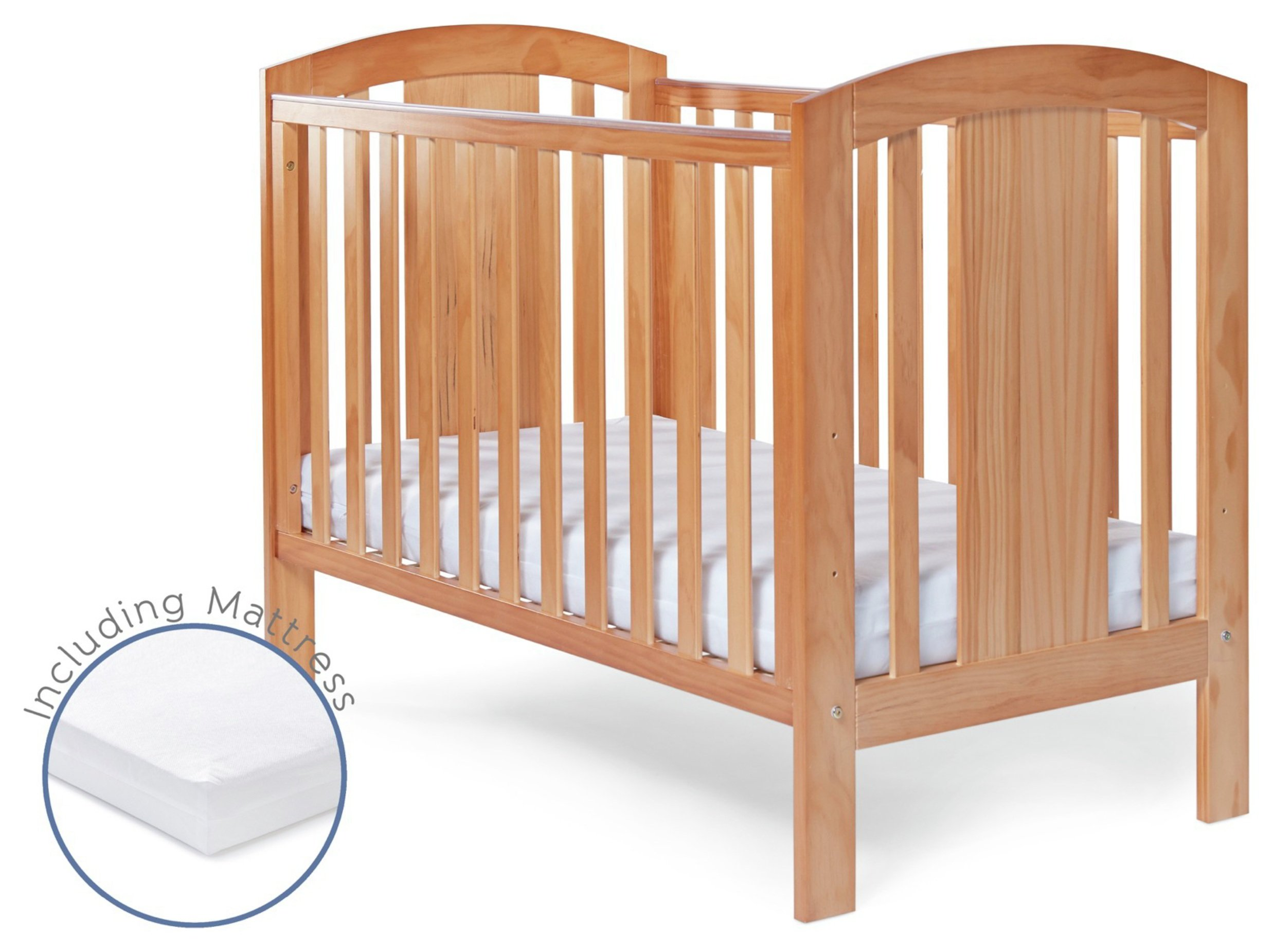 Image of Baby Elegance Laba Cot with Mattress - Pine