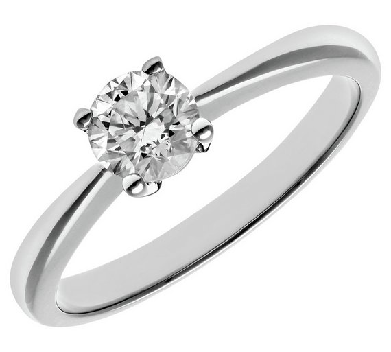 Buy Revere 9ct White Gold 0.50ct Diamond Solitaire Ring ... 9710e7c31