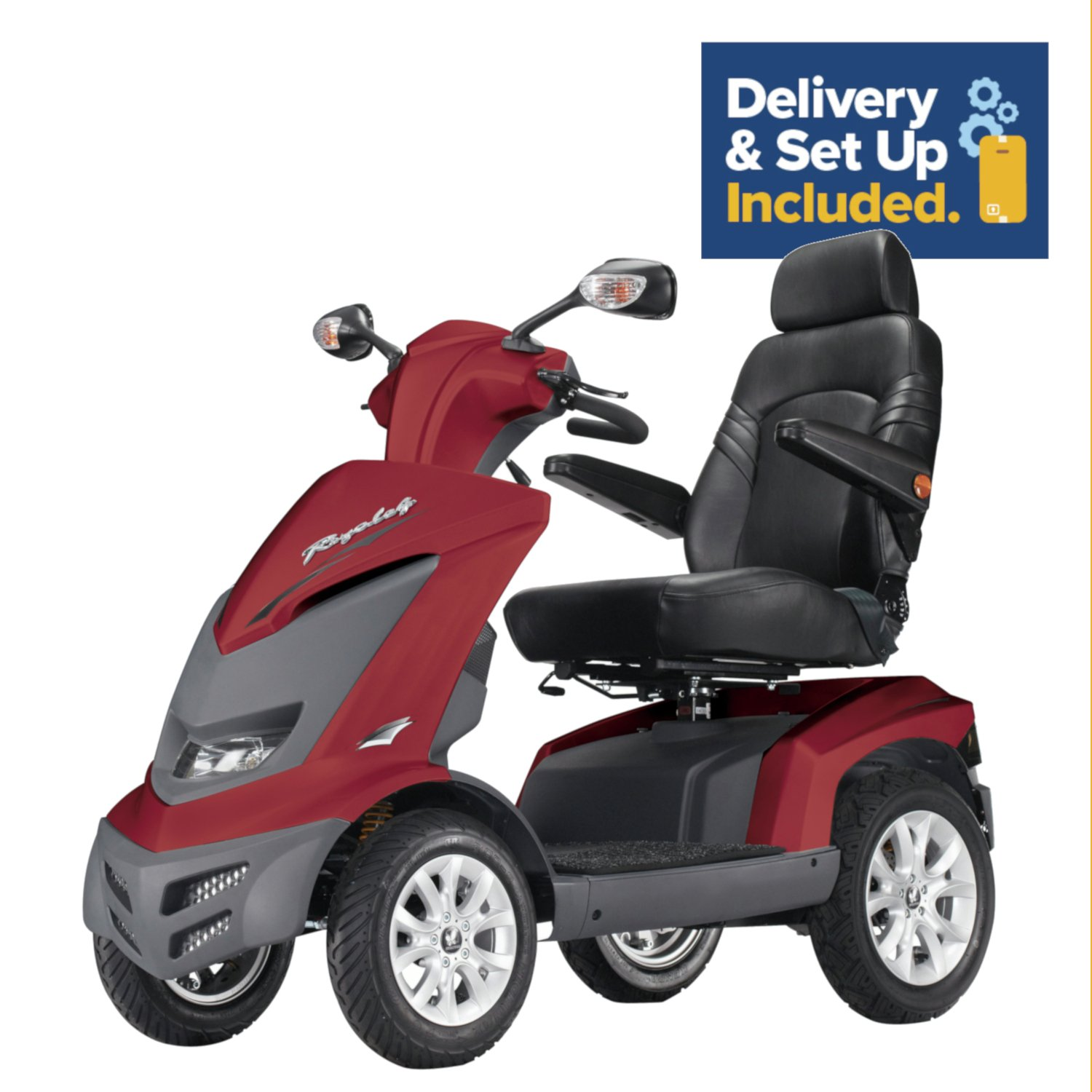 Drive DeVilbiss Healthcare Royale Mobility Scooter Class 3 - Red.