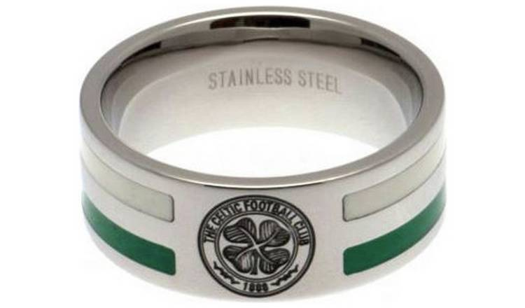 Stainless Steel Celtic Striped Ring - Size X
