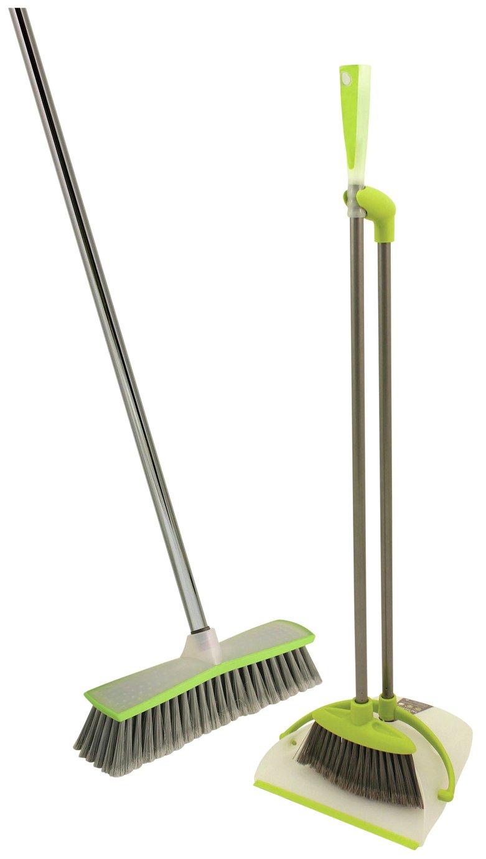 Image of Bentley Hour Glass Indoor Broom and Long Handle Dustpan Set.
