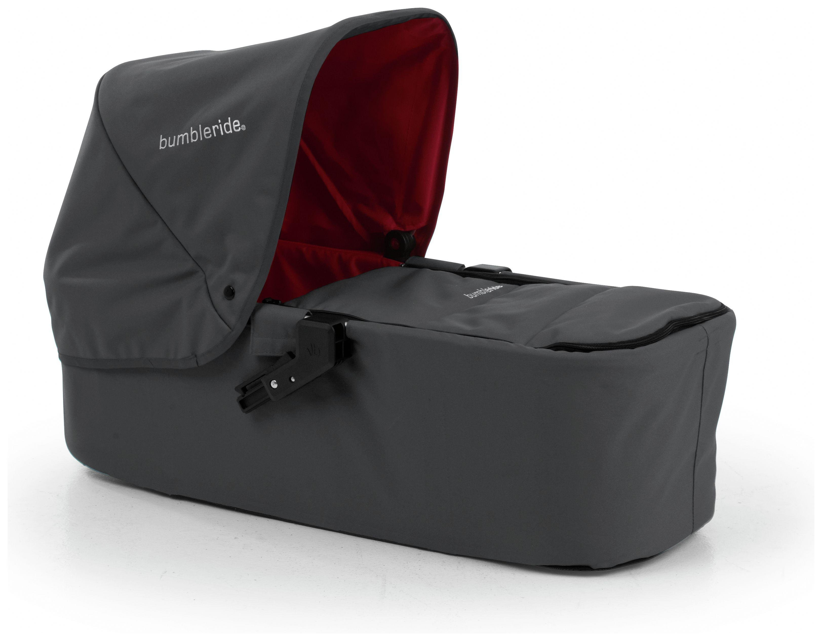Image of Bumbleride Indie Carrycot - Fog Grey.