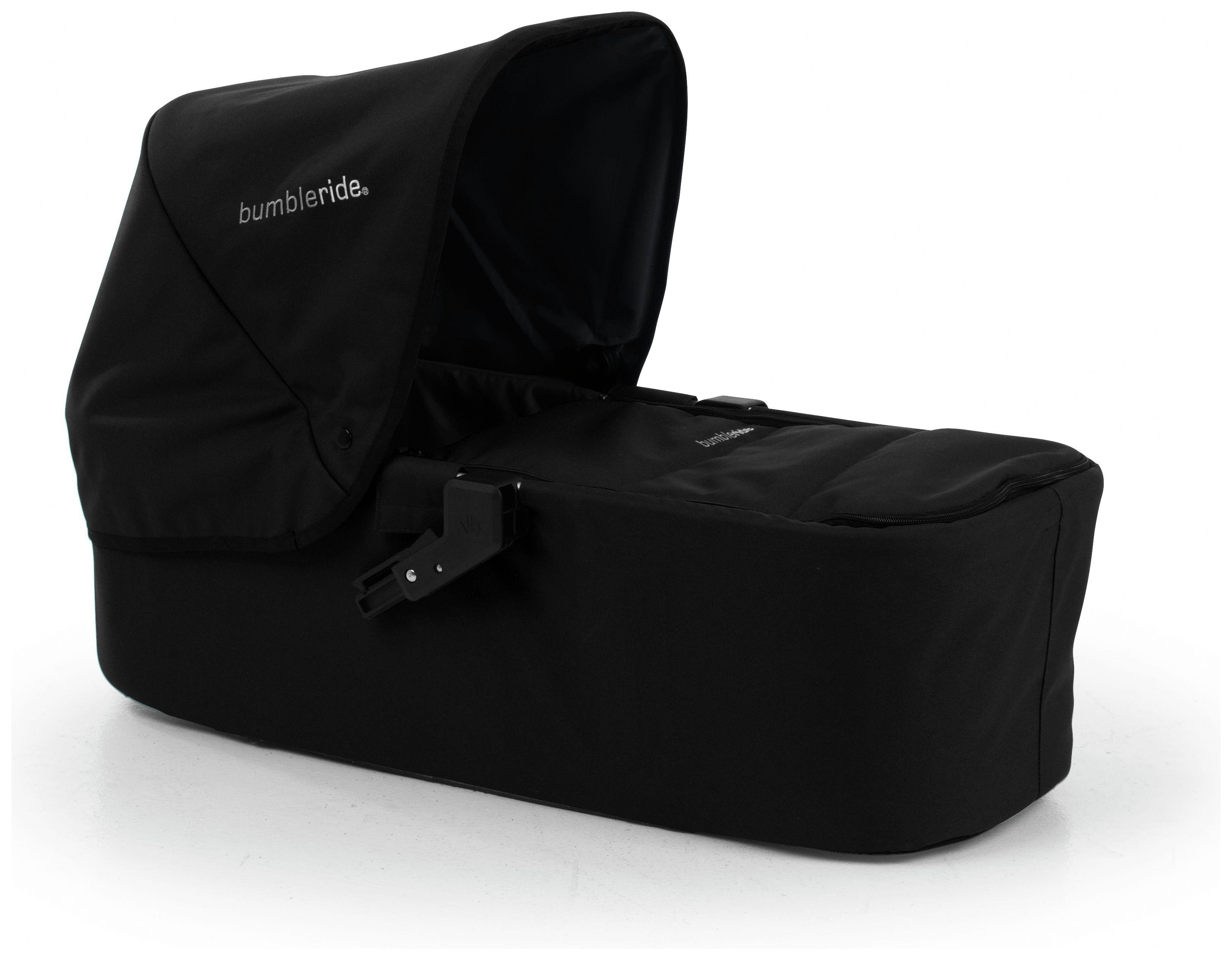 Image of Bumbleride Indie Twin Carrycot - Jet Black.