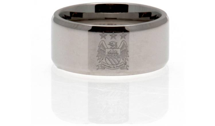 Stainless Steel Man City Ring - Size R