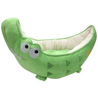 Happy Puppy Dog Jungle Crocodile Bed (Green)
