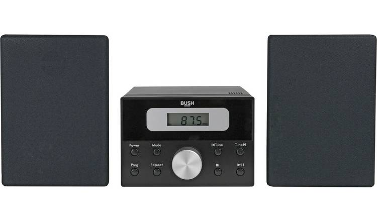 Bush LCD CD Micro System - Black
