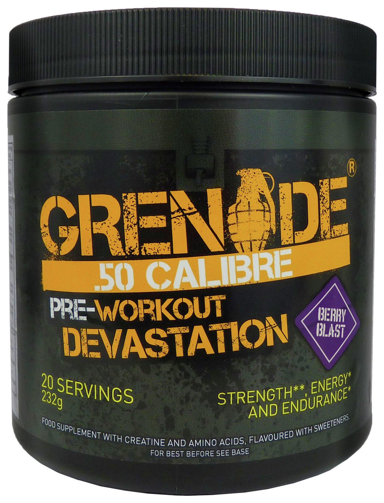 Grenade - 50 Calibre 232g Sports Drink - Berry Blast lowest price
